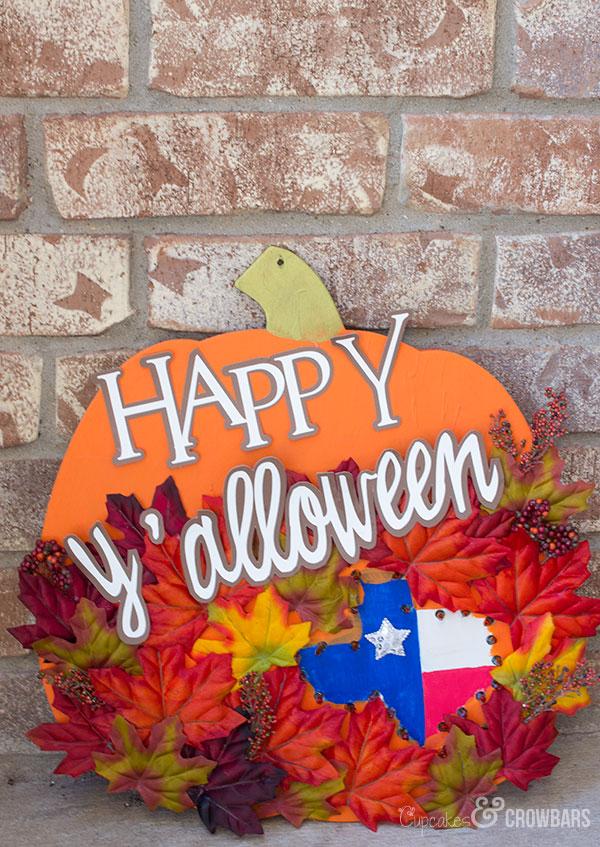 DIY Southern Halloween Pumpkin Decoration | Cupcakes&Crowbars