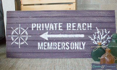Saltwash Private Beach DIY Sign