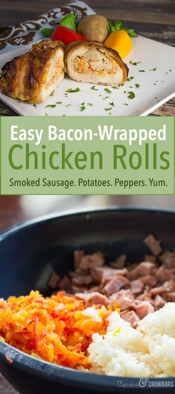 Easy Chicken Sausage Roll Bacon Yum
