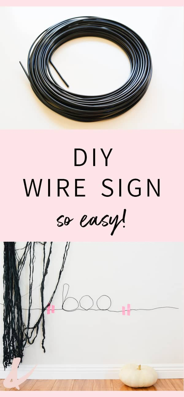This easy DIY wire sign is perfect for your easy Halloween decorating