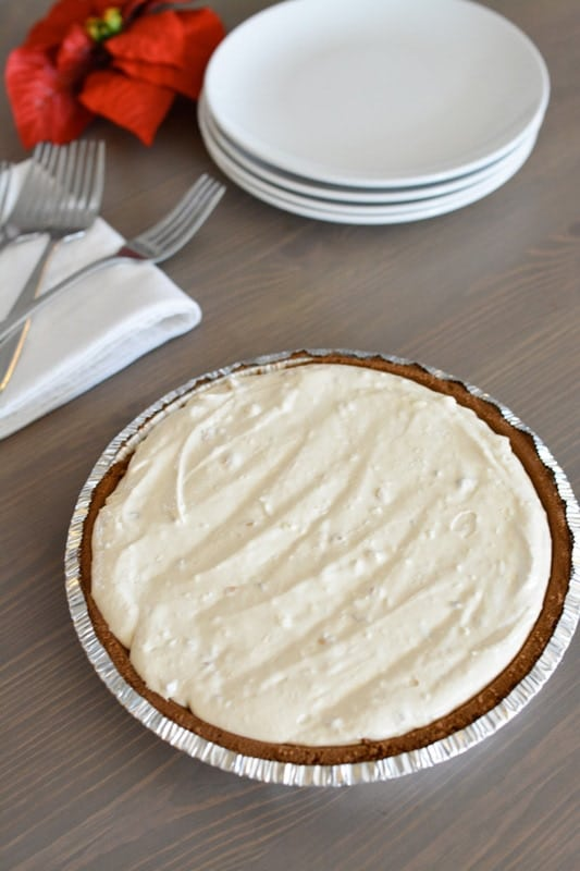 No bake peanut butter pie recipe that is frozen