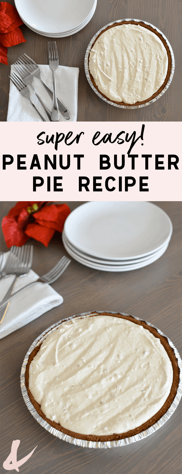 You will LOVE this easy Peanut Butter Pie recipe. This frozen, no bake pie is crazy tasty.