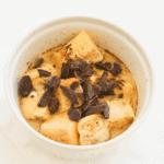 Single serve microwave chocolate bread pudding recipe.