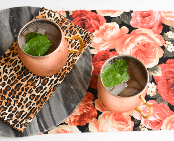 Easy Strawberry Moscow Mule cocktails