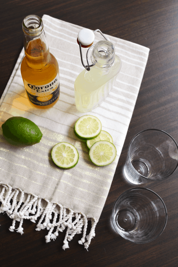 Corona cocktail with limeade for Cinco de Mayo.