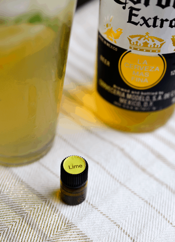 Lime essential oil for a delicious cocktail.