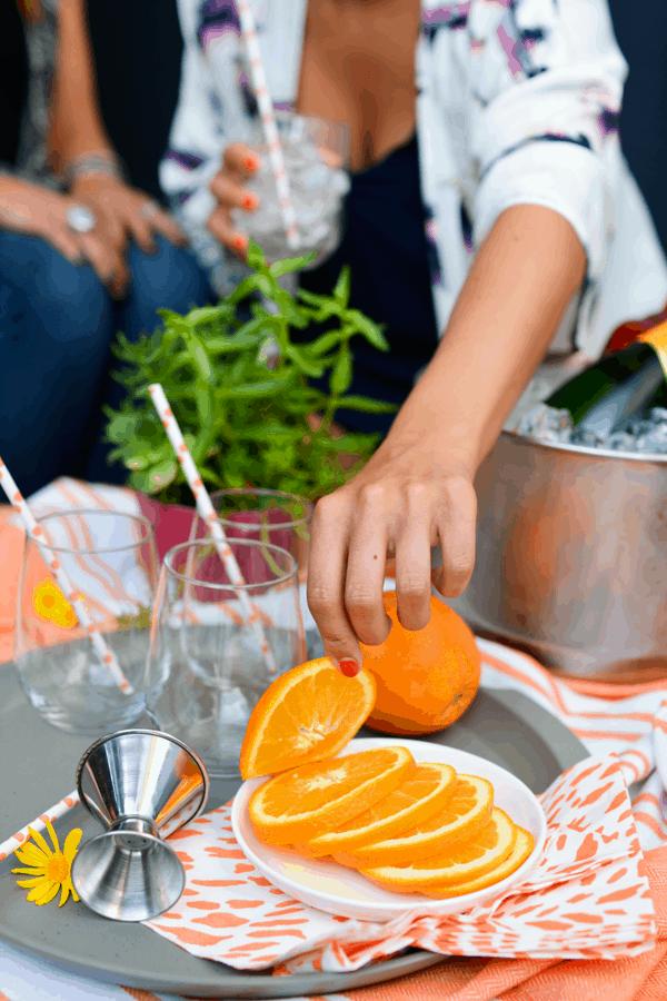 Share an Spritz Break with friends! Make this simple Aperol Spritz recipe.