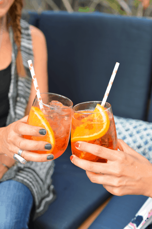 Aperol Spritz Break is the perfect happy hour cocktail!