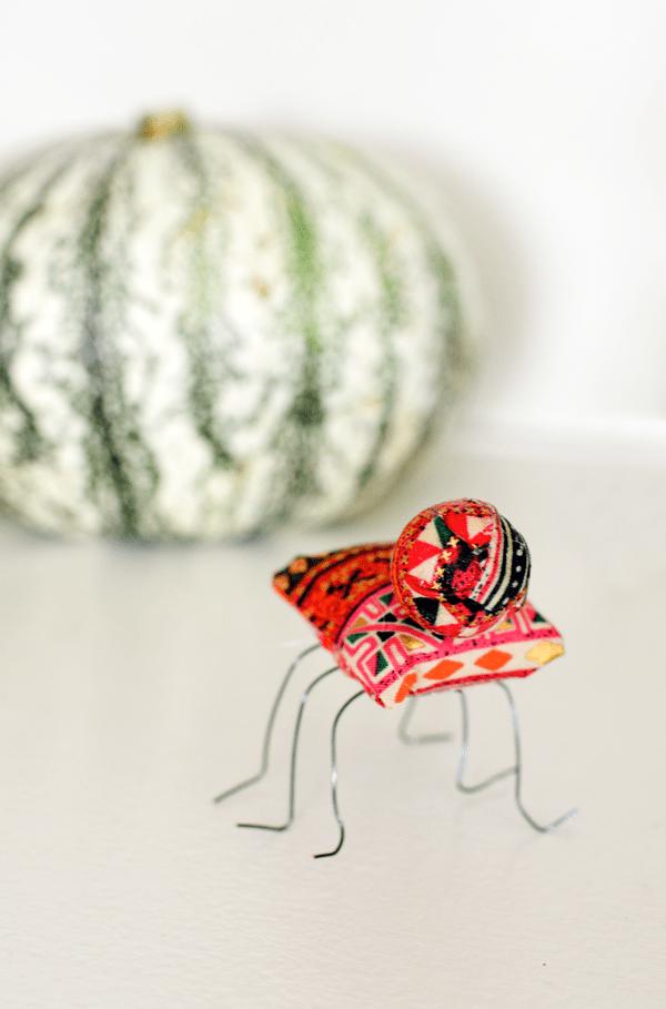 Cute fabric bugs are the perfect Halloween decoration idea!
