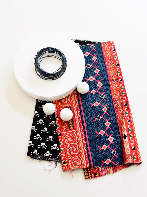 Supplies you need to make cute fabric bugs for Halloween