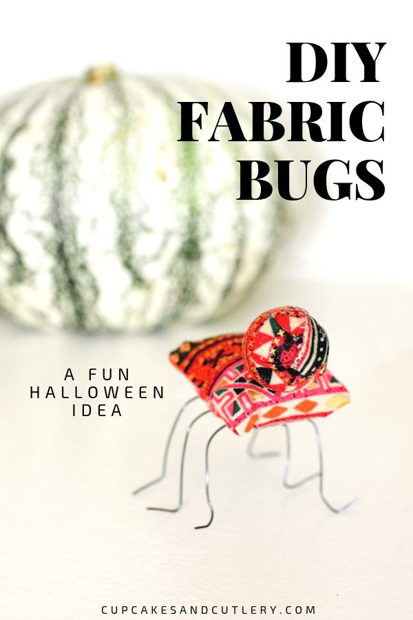 cute stuffed fabric bugs for Halloween