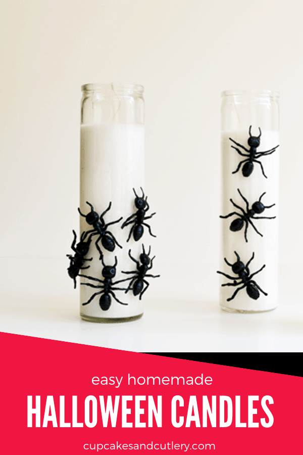 cute homemade halloween candles to diy