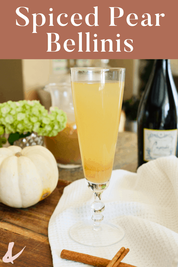 spiced pear bellinis