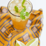 Make this Mexican Mule cocktail for your next party or happy hour! It's as delicious as your favorite Moscow Mule but uses tequila, jalapeno and ginger to give it a spicy twist!