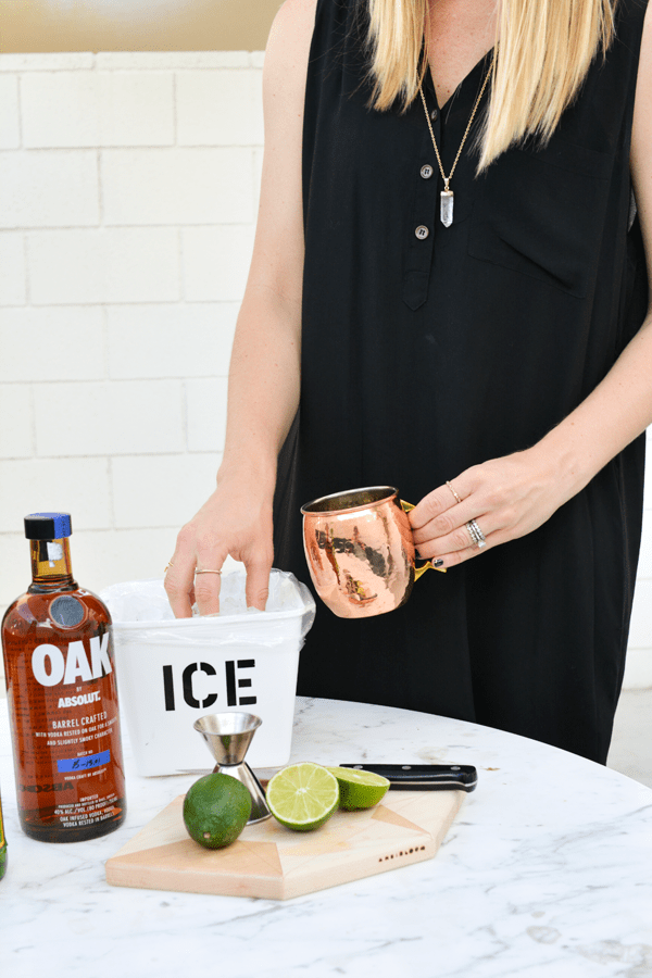 A vodka mule with Oak by Absolut is the perfect summer cocktail to make.