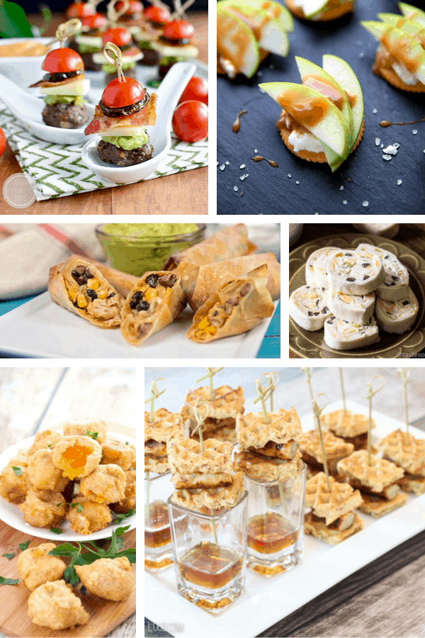 a variety of appetizers to make and share with friends and family at home.