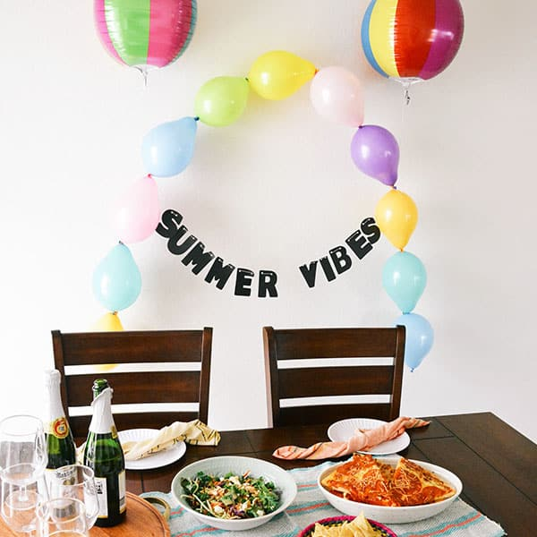 Easy DIY Balloon Decoration for a Summer Party