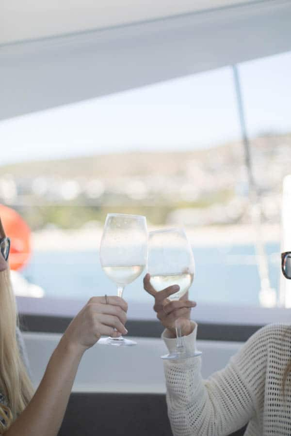 Wine and boats are the perfect summer activity