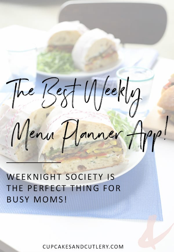 This app is my favorite weekly menu planning tool! It's perfect for easy healthy family meal ideas that you can get on the table in 30 minutes