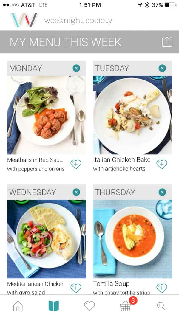 Weeknight Society is the best family meal planner for weeknight meal ideas
