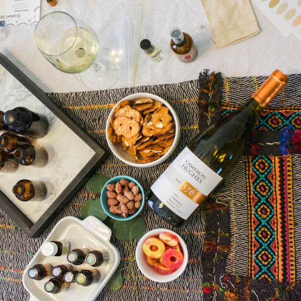 A Wine and Essential Oils Holiday Party