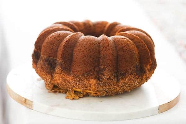 Delicious and moist Cinnamon Rum Cake Recipe