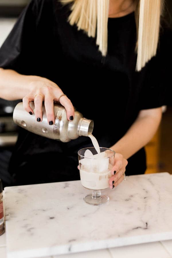 Milk Punch Recipe with Bourbon and Rum.