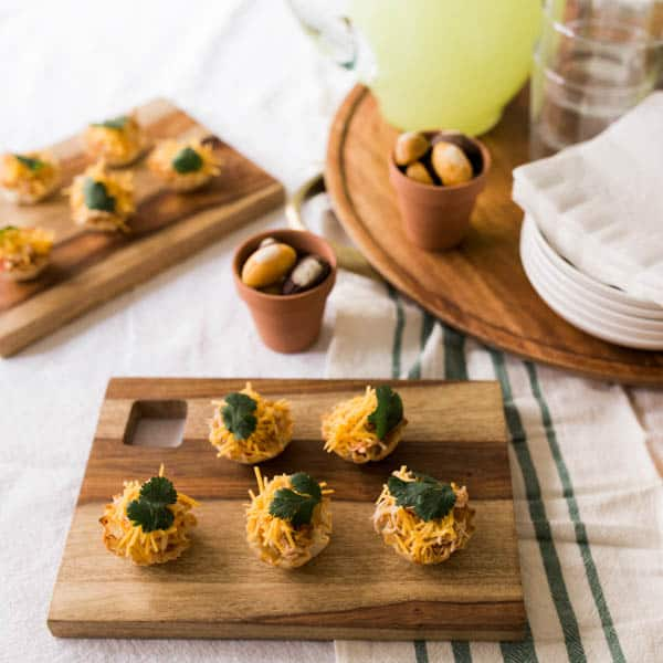 Instant Pot Salsa Chicken Taco Cups Appetizer Recipe