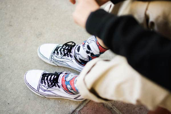 Comic book inspired outlined Vans sneakers and other great gift ideas for tween boys