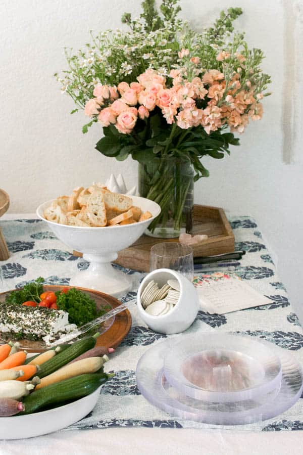 A spring inspired table for a rose tasting