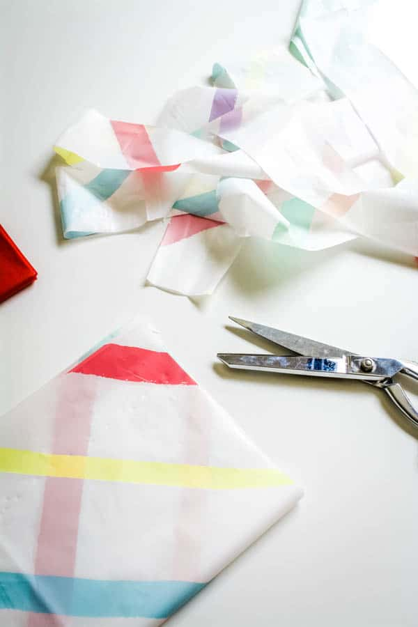 plastic tablecloth streamers