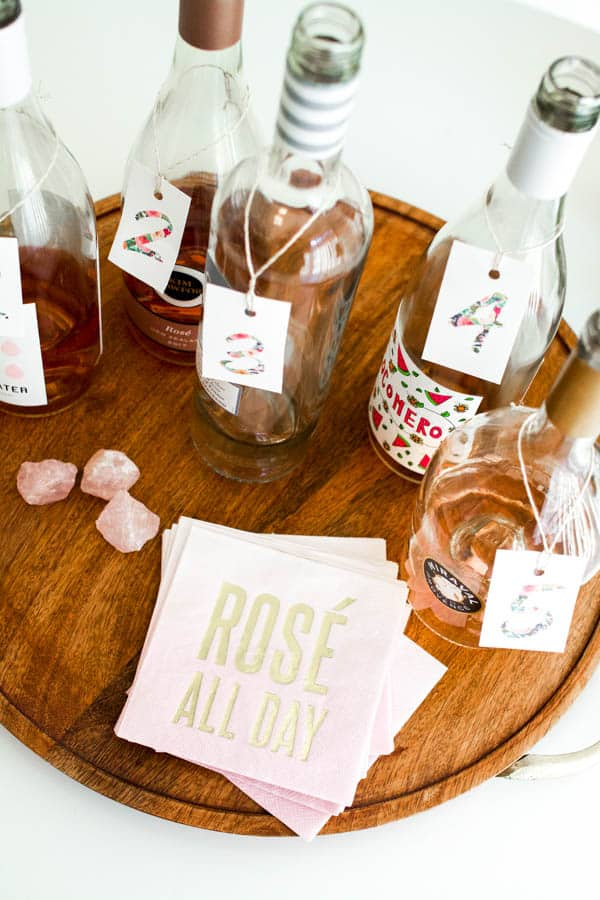 Good rose wine to use for a wine tasting