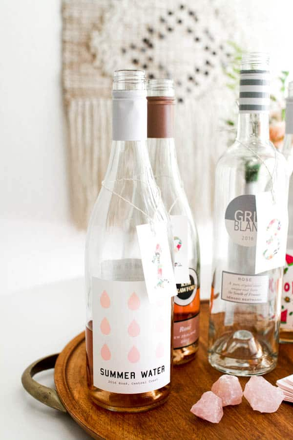 Rose wine online and from stores for a wine tasting