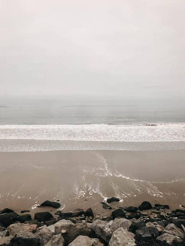 Beach views from Amtrak's Pacific Surfliner