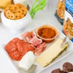 square image for post on game day snack ideas