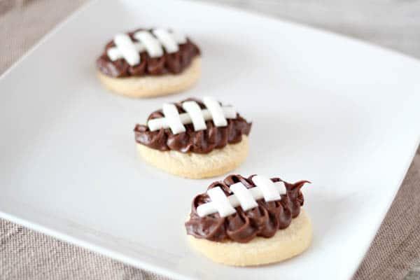 Cute and easy football sugar cookies