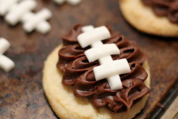 Easy football cookies for beginners to make