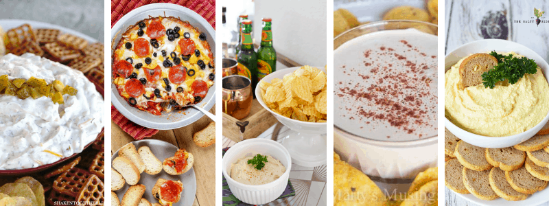 easy tailgate dips to make for the big game