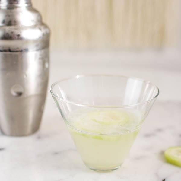 Cucumber Gimlet Cocktail with Vodka