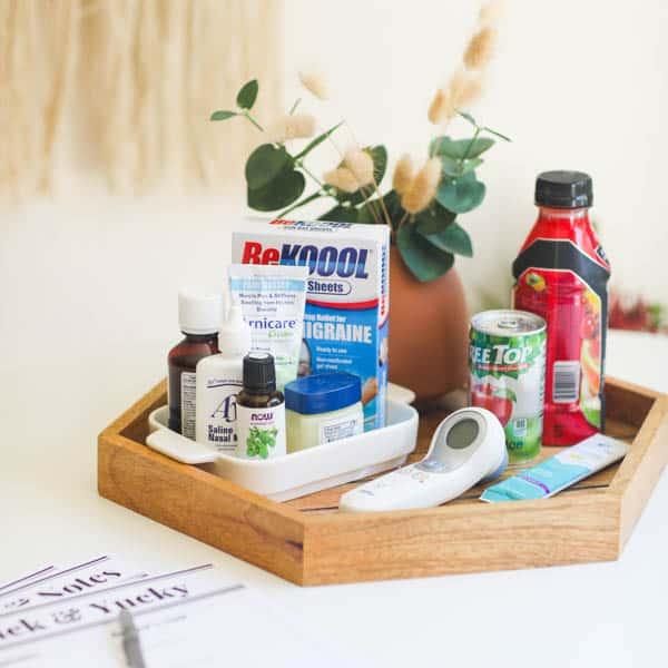 Mom's Cold and Flu Kit + Sick Day Printables