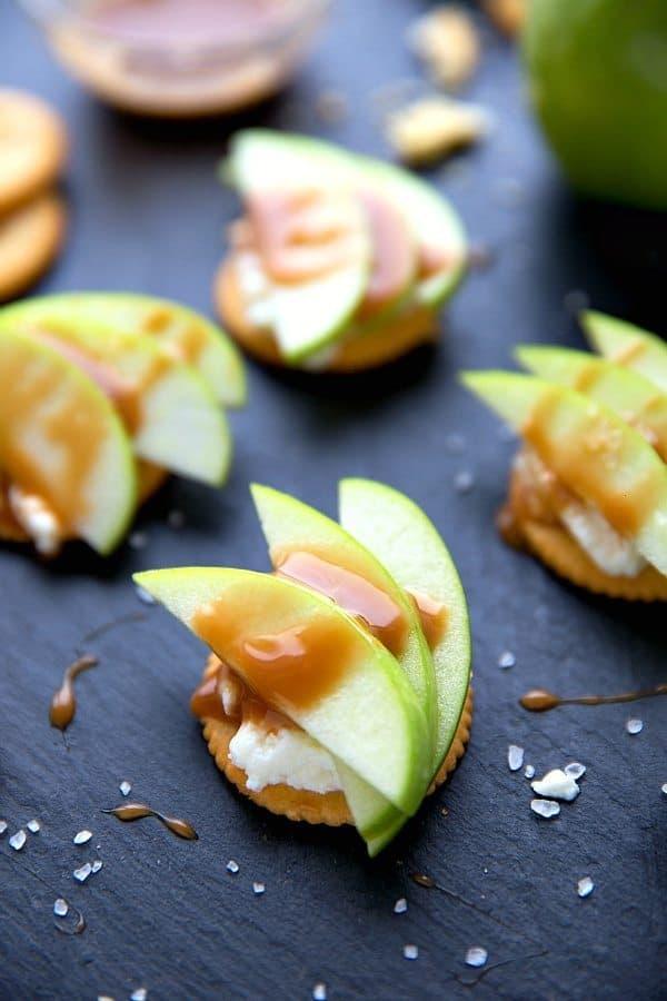 Caramel Apple Ricotta Bites