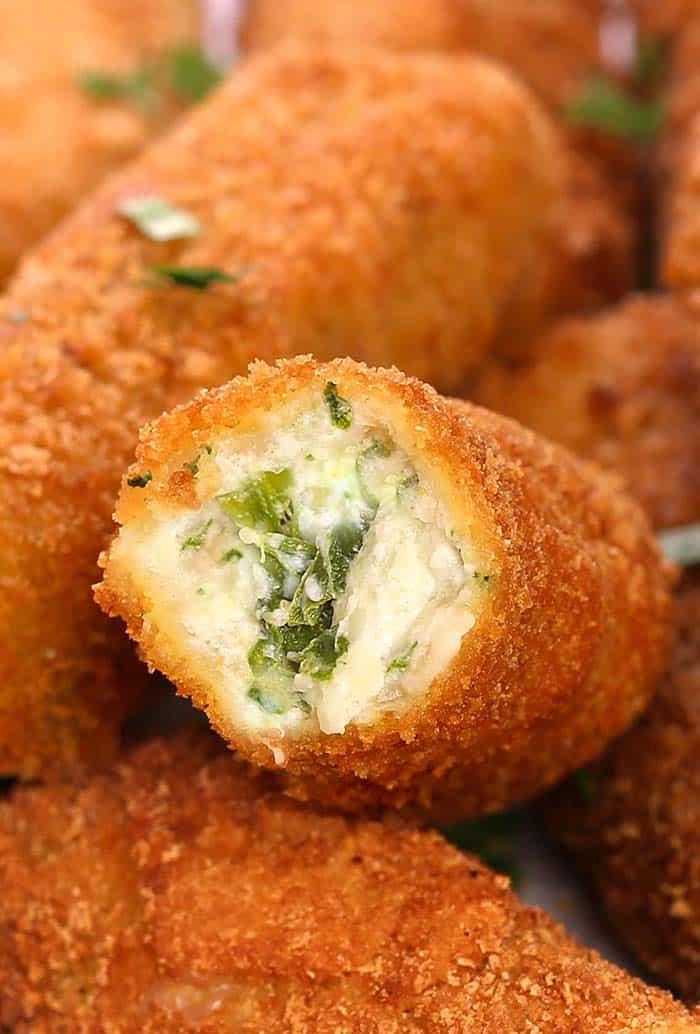 Easy Spinach Dip Cheese Sticks