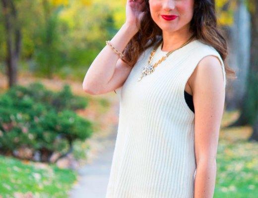 Madewell Sleeveless Sweater | www.cupcakesandthecosmos.com