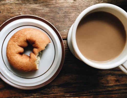 Coffee and Donut   www.cupcakesandthecosmos.com