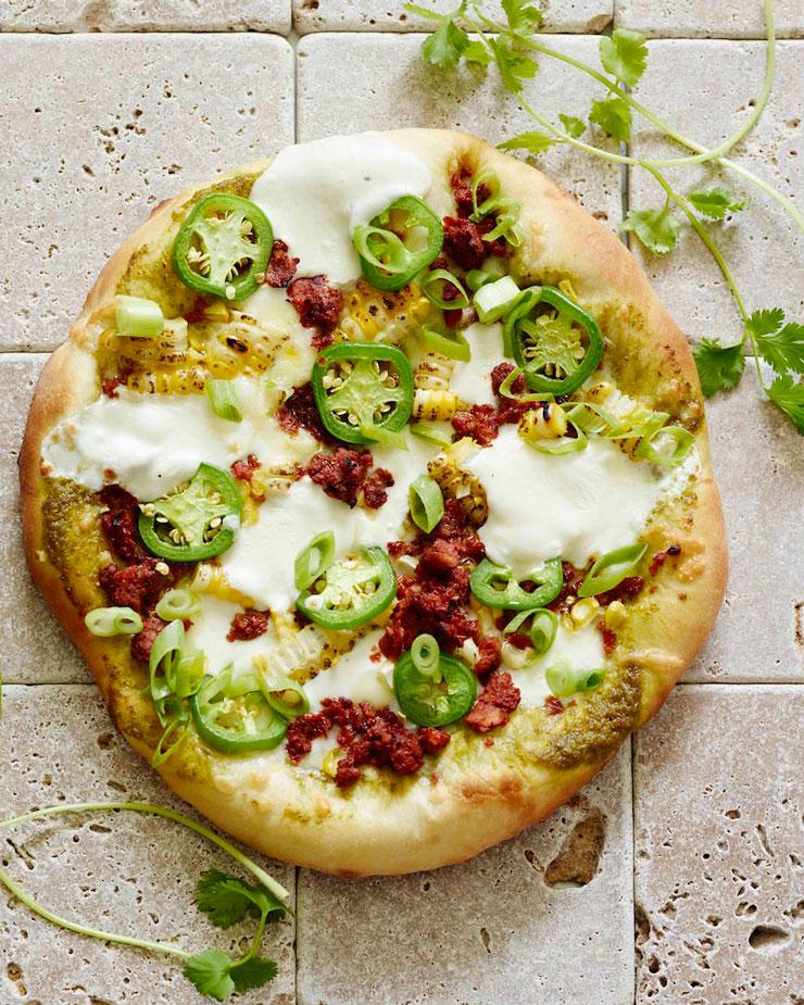Corn Cilantro Jalapeno Pizza | www.cupcakesandthecosmos.com