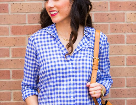 Casual Weekend Gingham | www.cupcakesandthecosmos.com