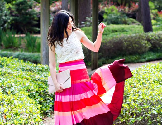 Pink Maxi Skirt + Birthday Thoughts | www.cupcakesandthecosmos.com