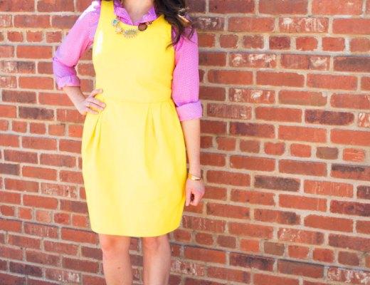 Yellow Summer Work Dress | www.cupcakesandthecosmos.com