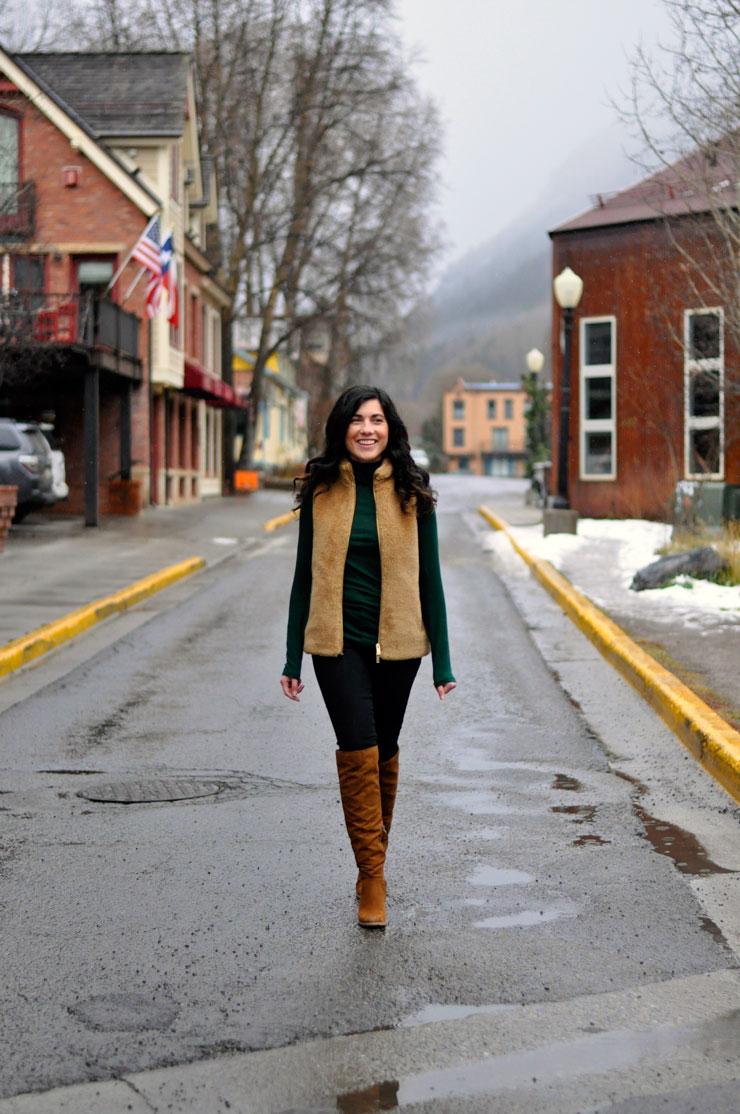 Fur Vest in Telluride