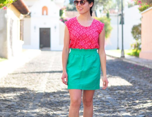 Colorful outfit for exploring Antigua Guatemala on foot | www.cupcakesandthecosmos.com